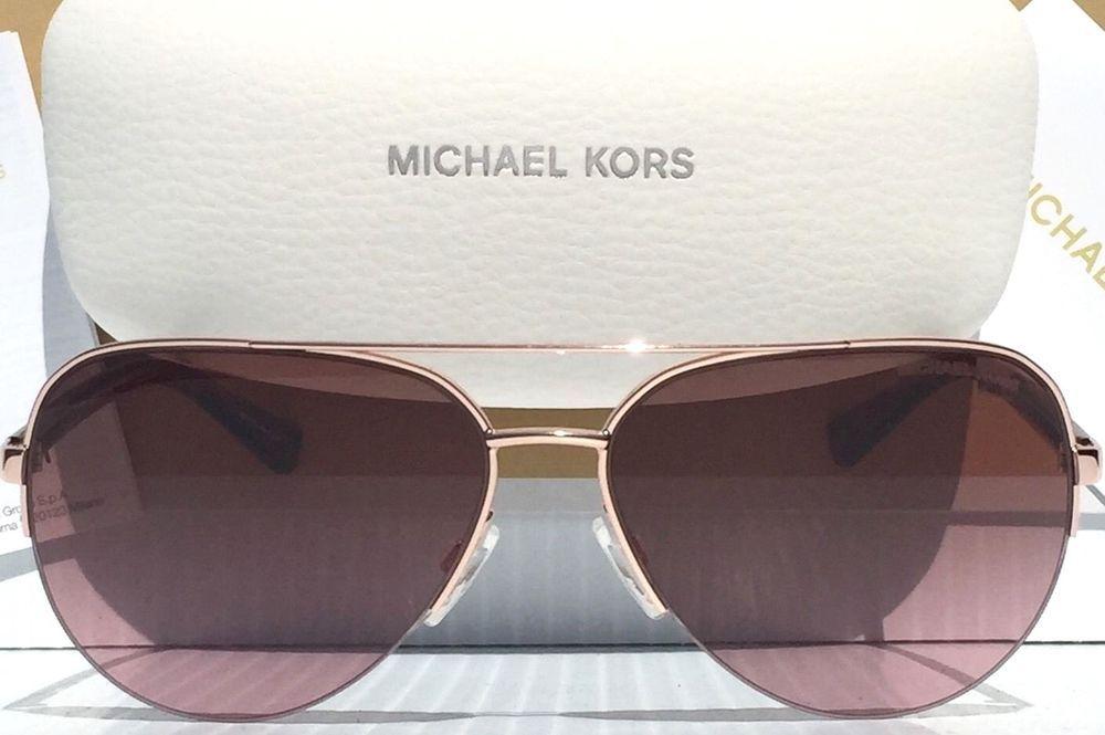 9d34f7fb3e NEW  MICHAEL KORS AVIATOR ROSE GOLD w Gradient MK5008 SPERONE Sunglass