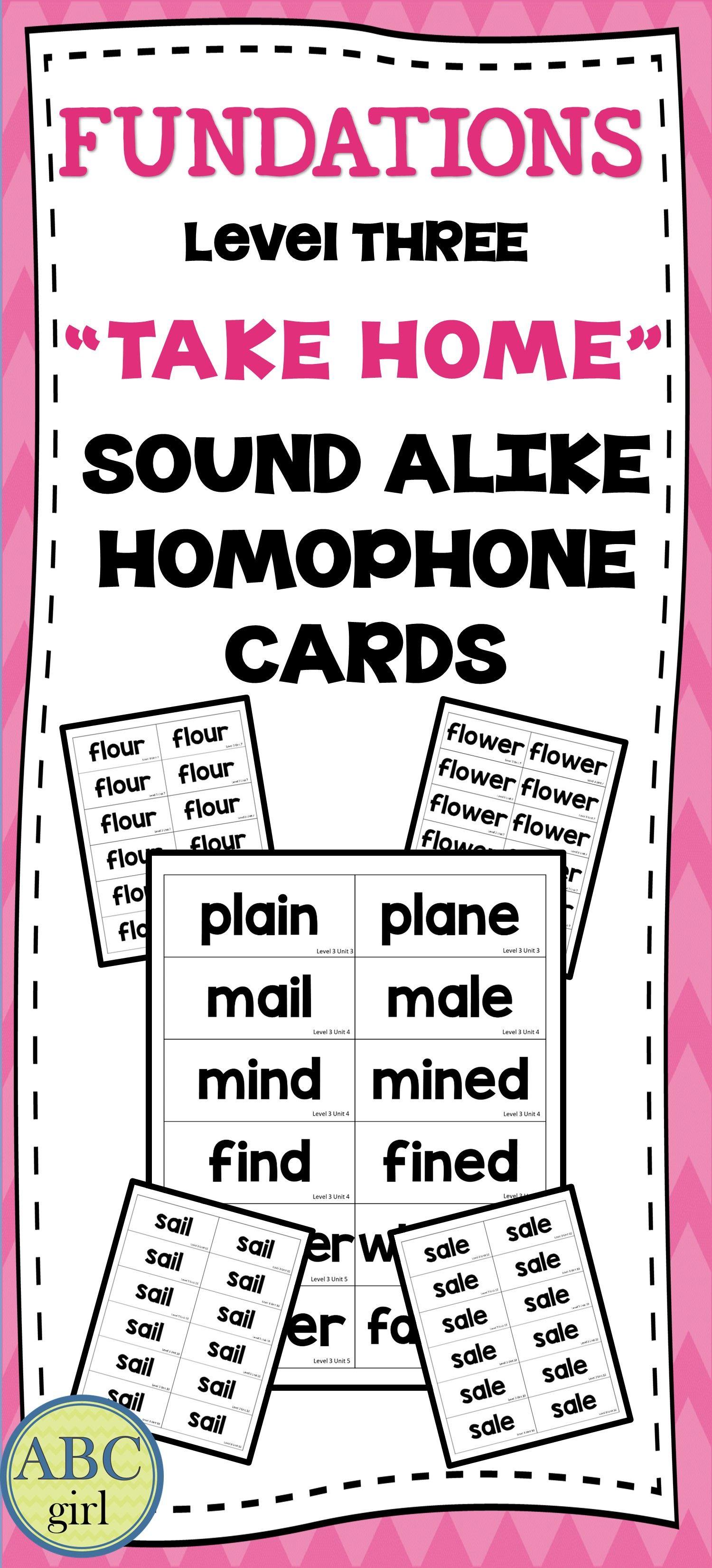 3rd Grade Fundationally Fun Phonics Level 3 Take Home