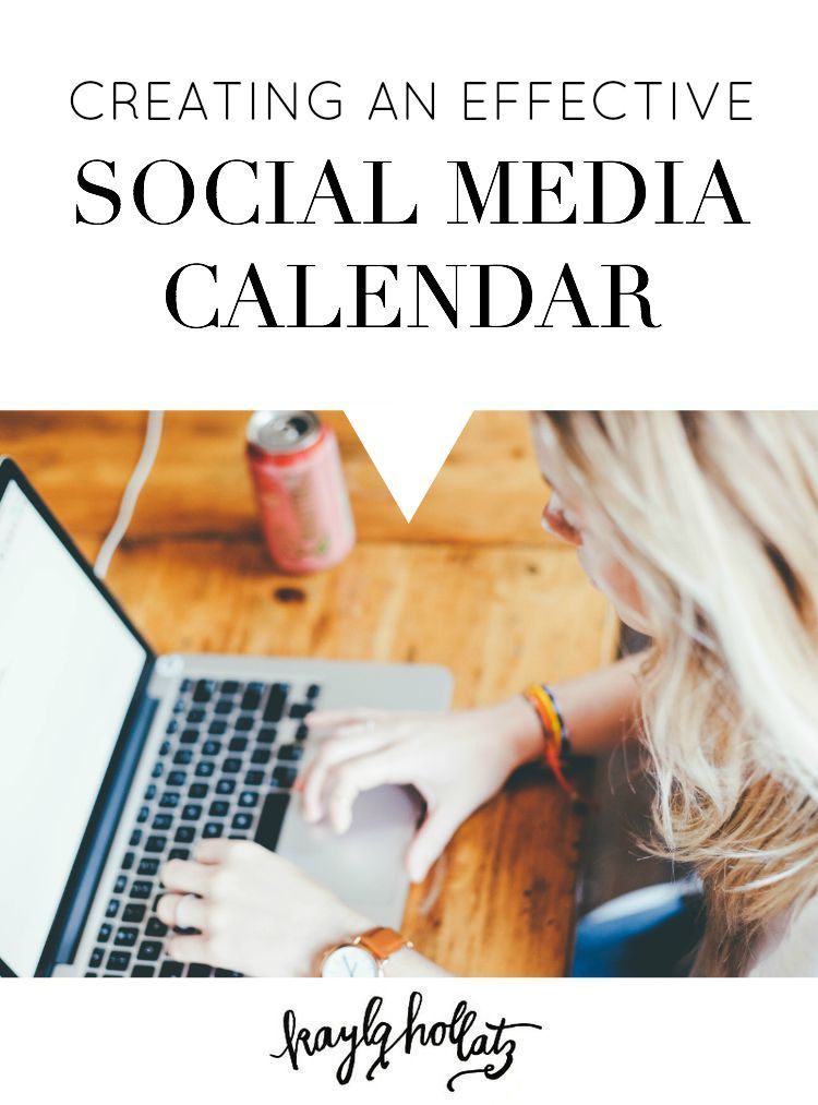 Creating an Effective Social Media Calendar Social media - social media calendar template