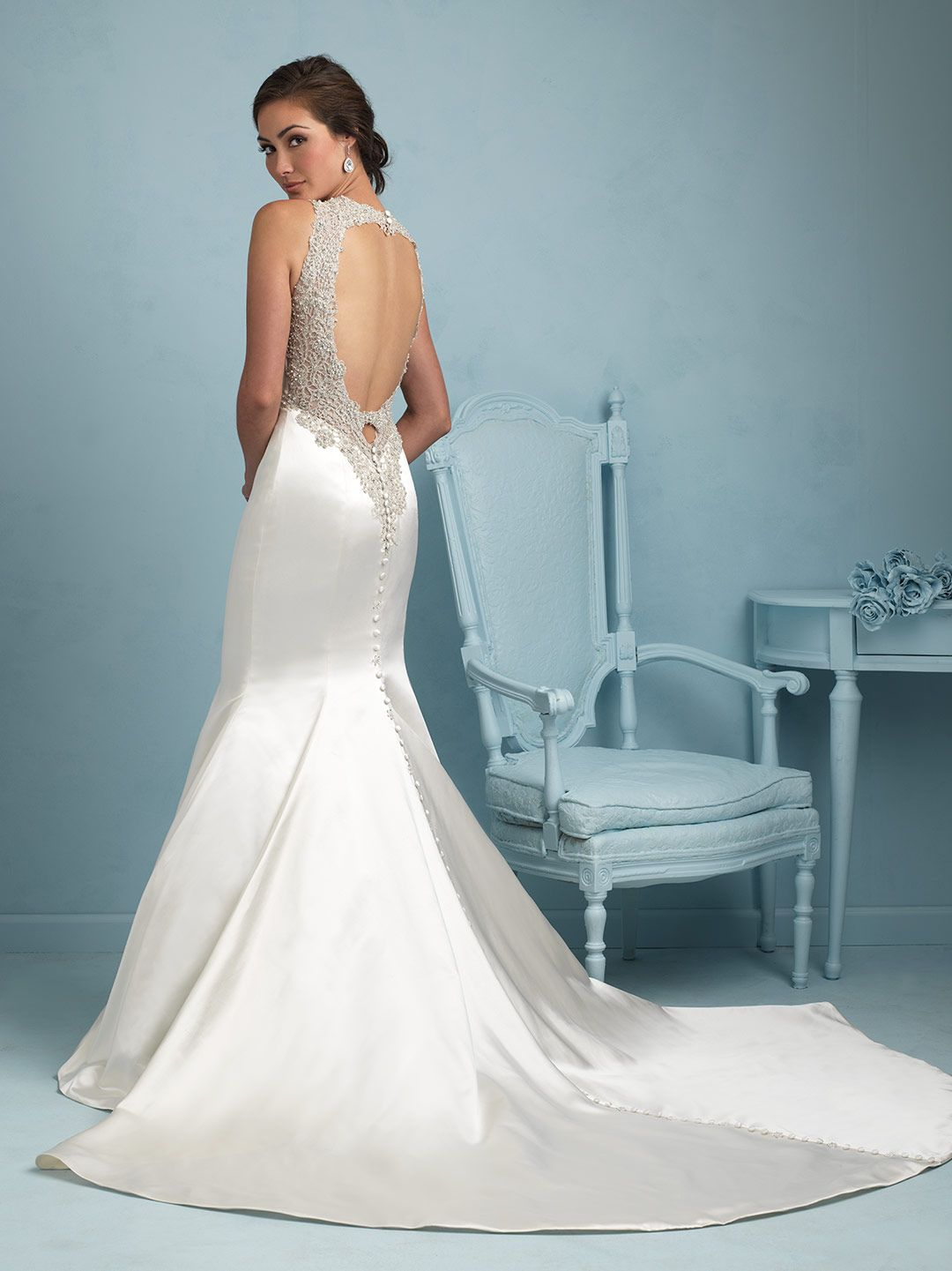 Allure Bridals 9219 - The incredible back detailing on this satin ...