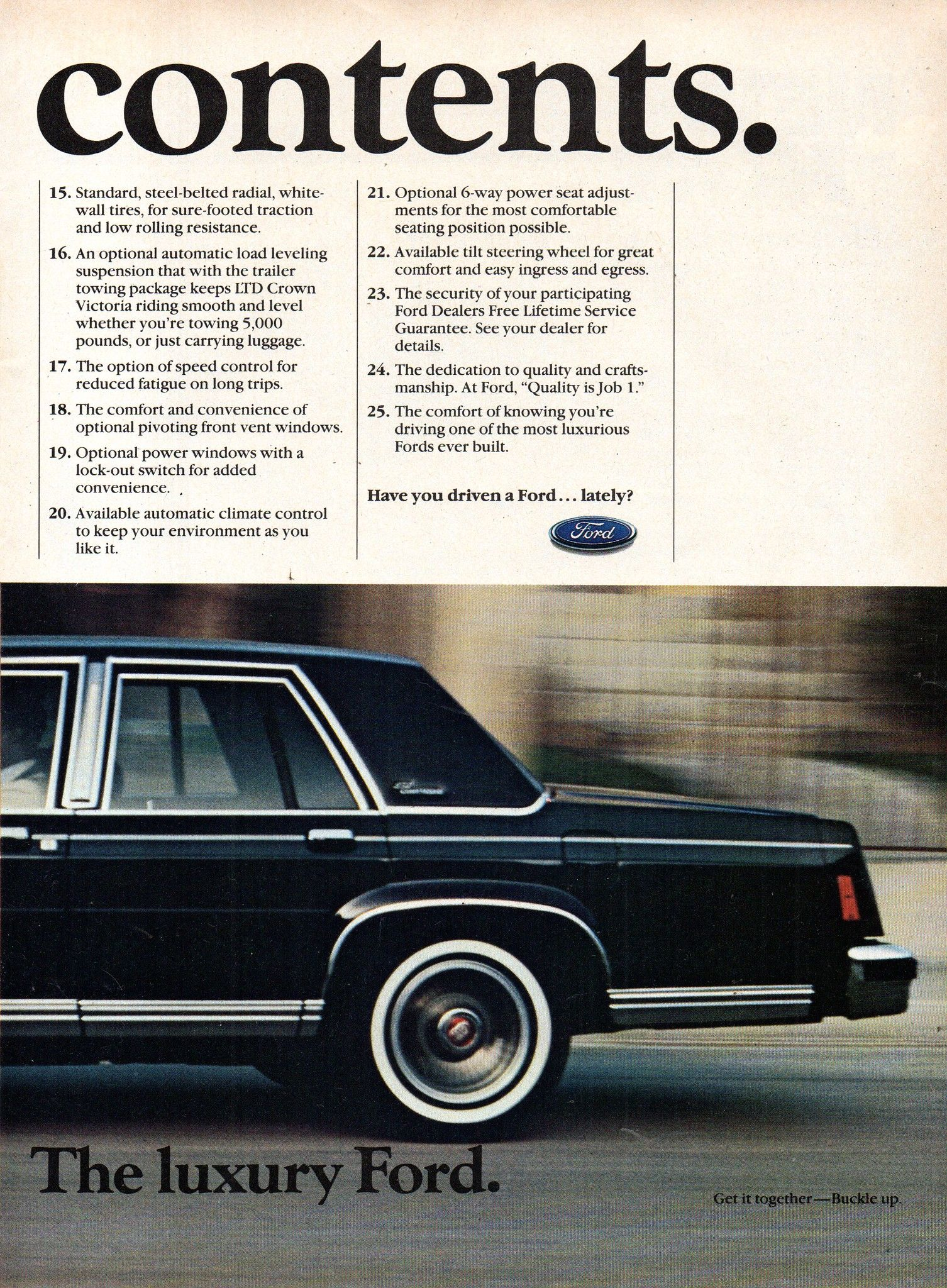 1985 Ford Ltd Crown Victoria Sedan Page 2 Usa Original Magazine