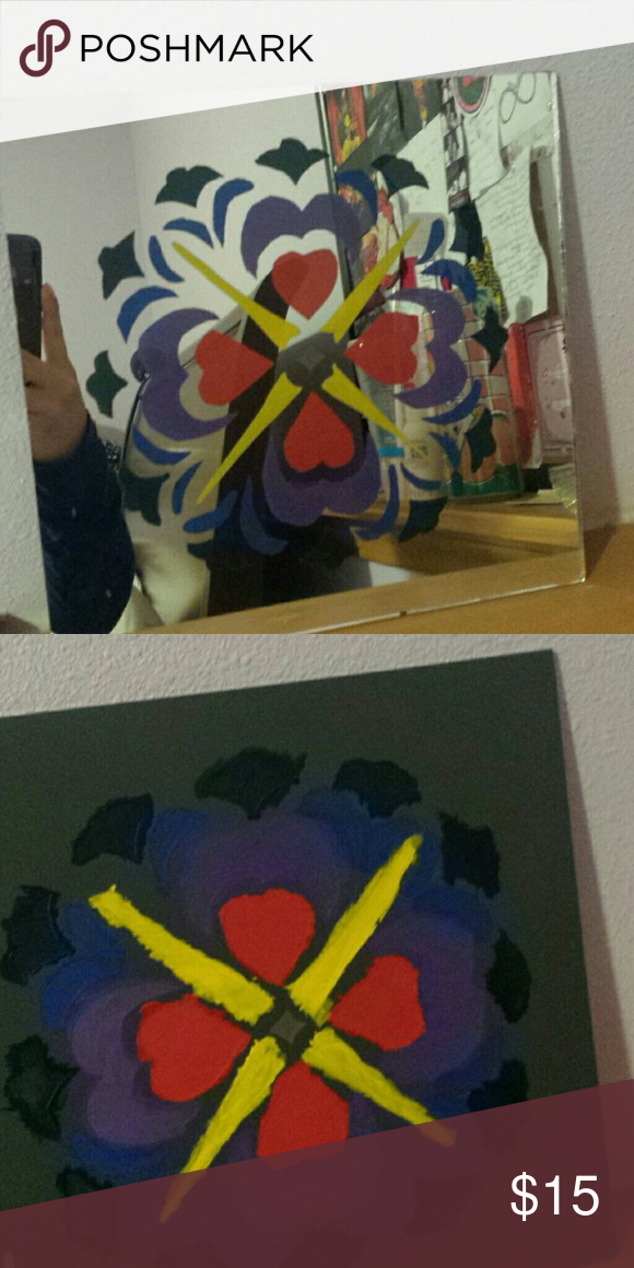 Hand painted mirror Painted mirror, unique, signed by me. Other