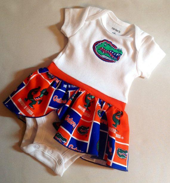 Florida Gator skirted onesie by BabyBUMPlebee on Etsy, $23 ...
