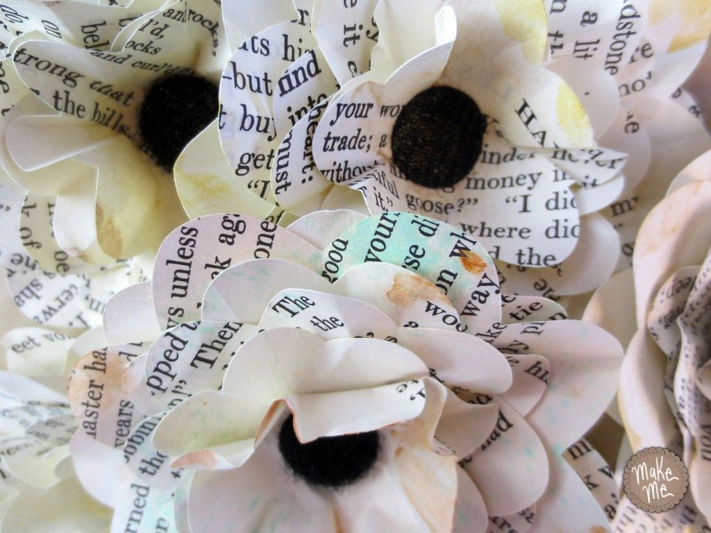 Tutorial Paper Flowers From Book Pages With Your Silhouette Cameo