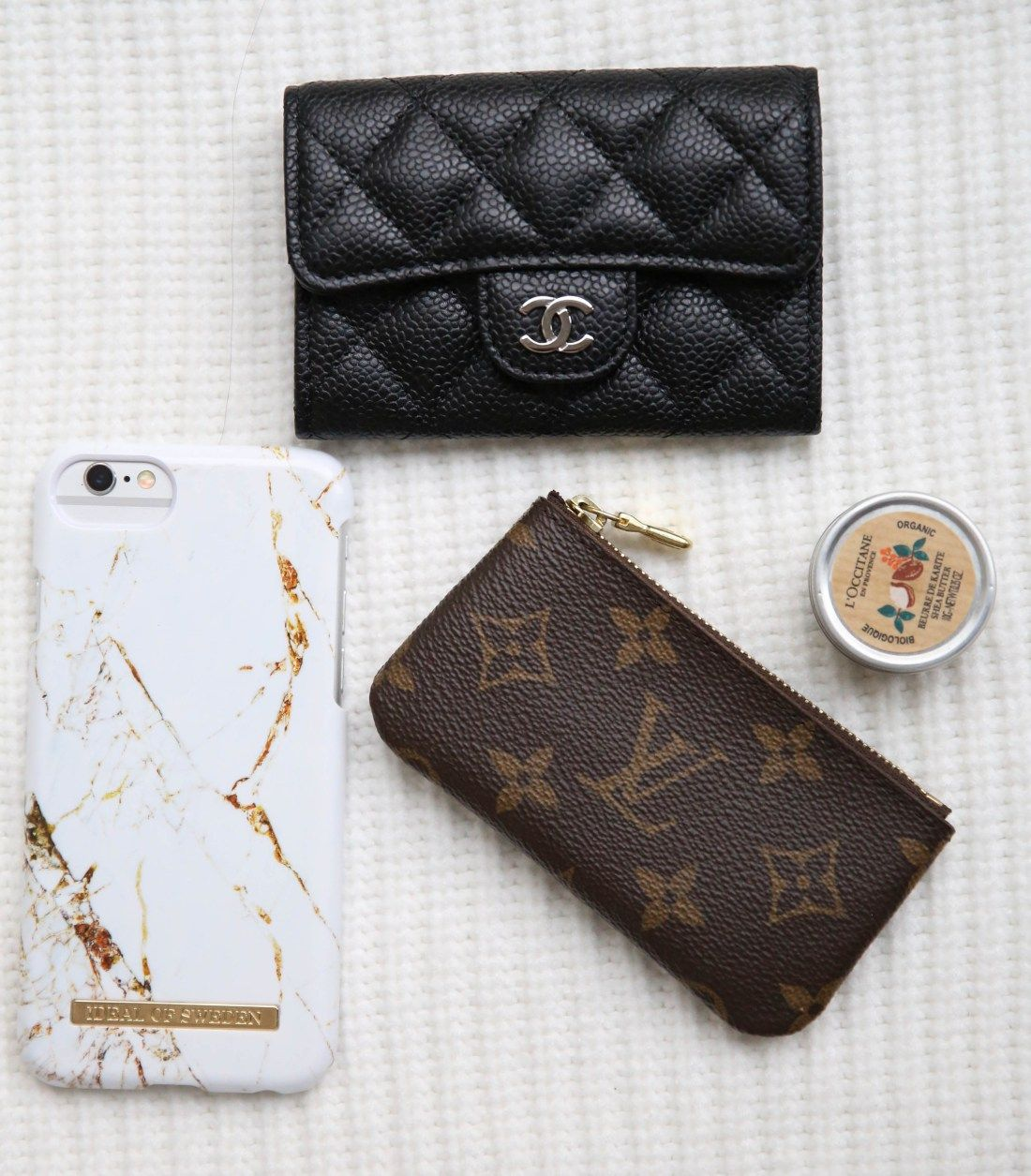 71cb3bdea9c Hermes Evelyne TPM Review. Chanel cardholder. Louis Vuitton key pouch. What  fits inside the Hermes Evelyne mini.