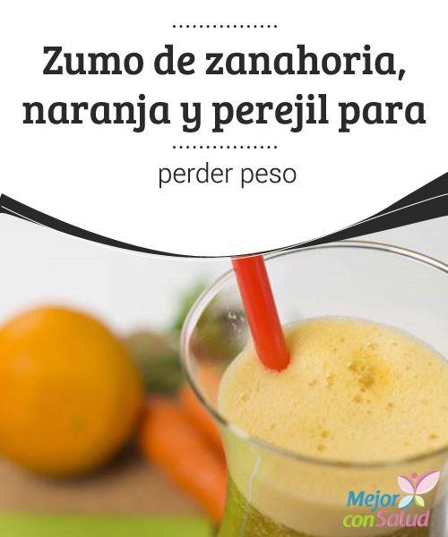 Jugo de naranja y perejil para adelgazar