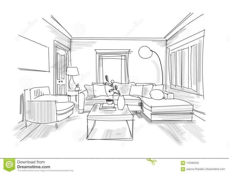 Interior Design Sketches Easy