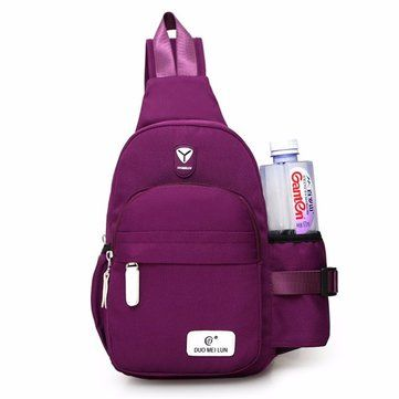 Men Women Nylon Sling Bag Backpack Crossbody Shoulder Chest Cycle Daily Travel##