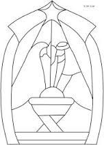 Resultado De Imagen Para Vitrales Navidenos De Papel Stained Glass Patterns Stained Glass Christmas Stained Glass