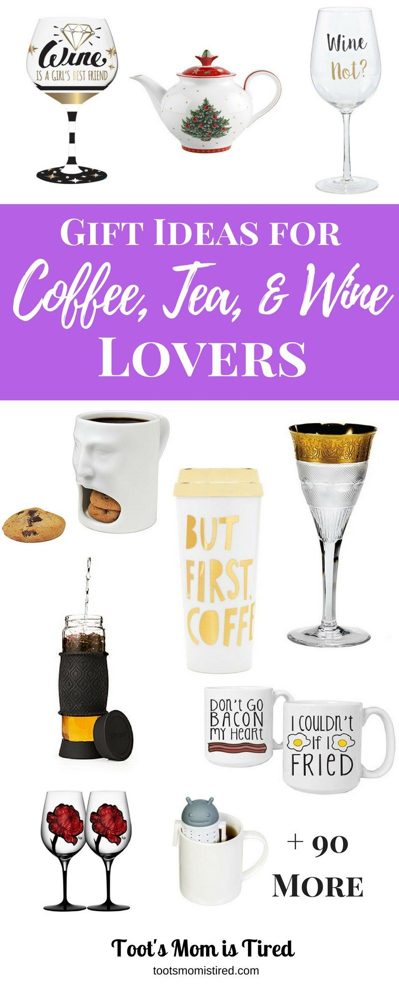 Gift Ideas for Coffee, Tea, and Wine Lovers   Gifts for wine lovers, Gifts, Gifts for mom