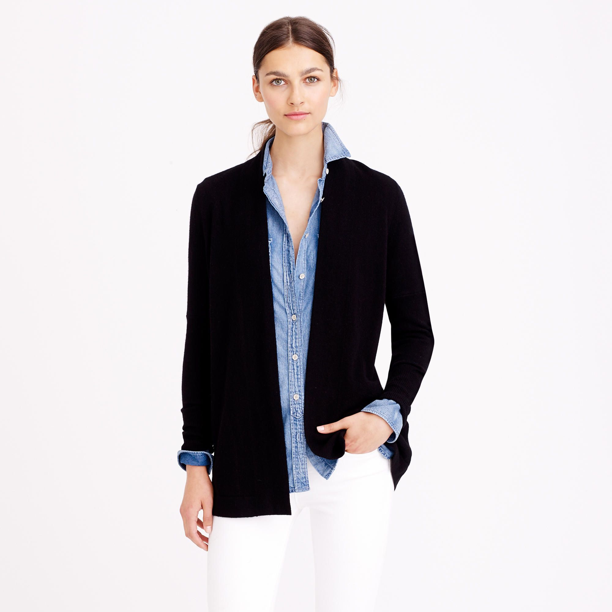 Collection cashmere long open cardigan sweater : Cardigans | J ...