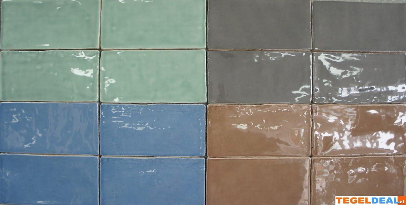 Wandtegels Badkamer Blauw : Nostalgische handvorm wandtegels cm keuken