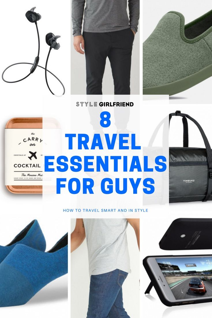 8 Travel Essentials For Stylish Guys On The Go Style Girlfriend Travel Essentials Men Travel Bag Essentials Travel Essentials List
