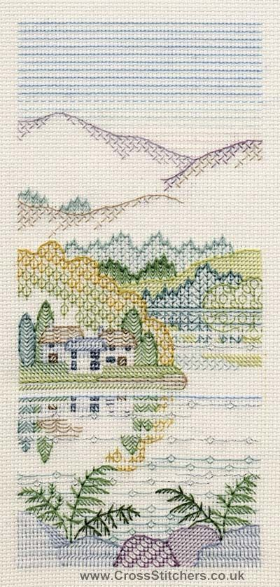 Bracken Cottages Blackwork Kit from Derwentwater Designs | blackwork ...