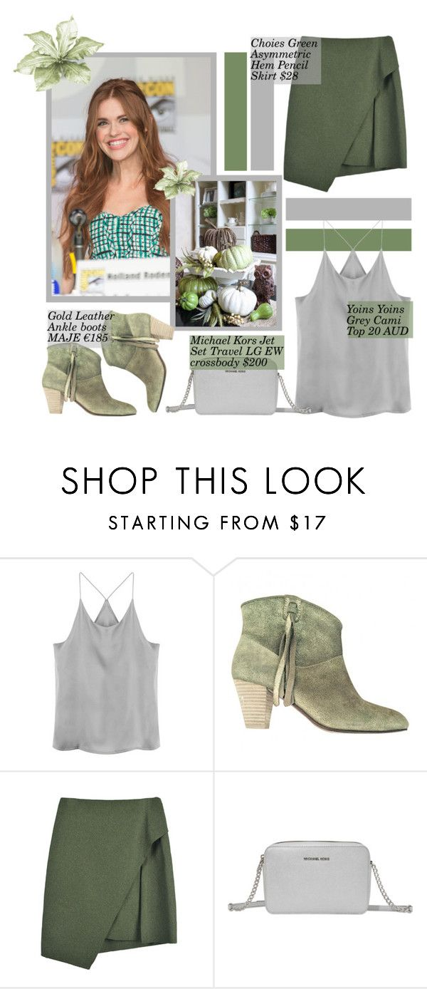 """""""Holland Roden♥"""" by tvdsarahmichele ❤ liked on Polyvore featuring Maje and Michael Kors"""