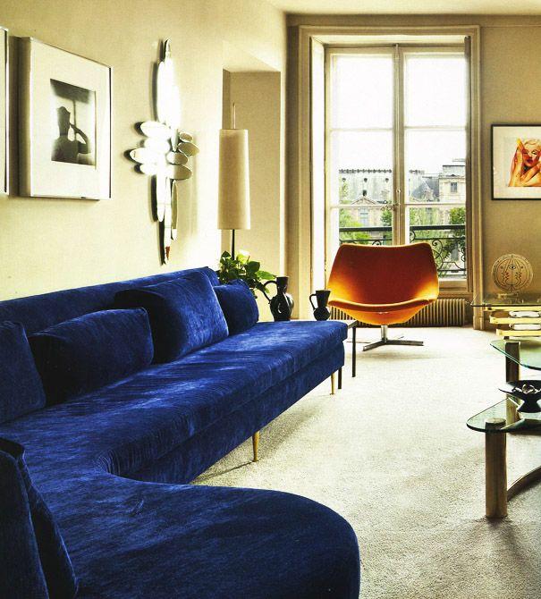 Wondrous Navy Blue Velvet Sofa Orange Chair In 2019 Blue Couch Short Links Chair Design For Home Short Linksinfo