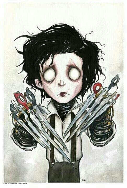 Tim Burton\'s Edward Scissorhands chibi fan art   drawings ...
