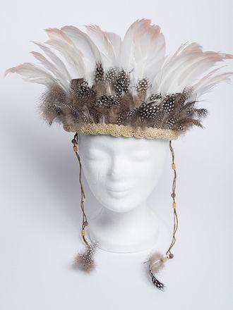 Indian Feather Headdress Indianer Kopfschmuck Mit Federn
