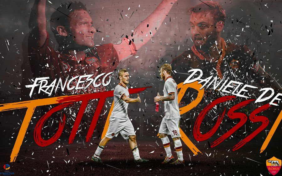 Affiches Daniele De Rossi As Roma Totti Lupo Football Photo #2