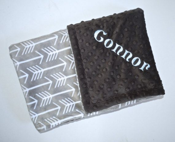 Trendy baby gift monogrammed minky blanket charcoal and gray find this pin and more on baby gifts moonbeam minky negle Choice Image