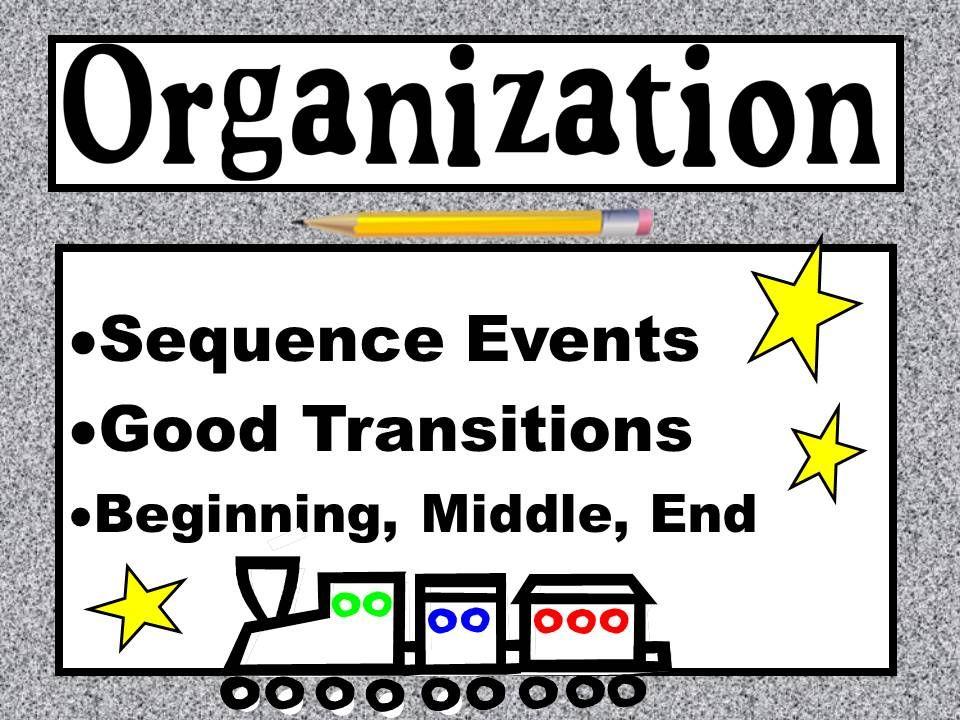 Organization 6 Traits Of Writing Six Trait Writing Writing Organization