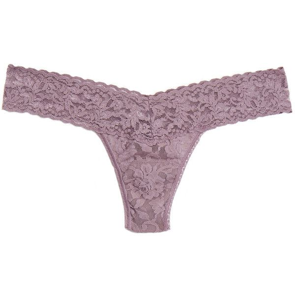 9f352d1a8c77b Hanky Panky Mauve Signature Stretch-Lace Thong (645 UAH) ❤ liked on Polyvore  featuring intimates