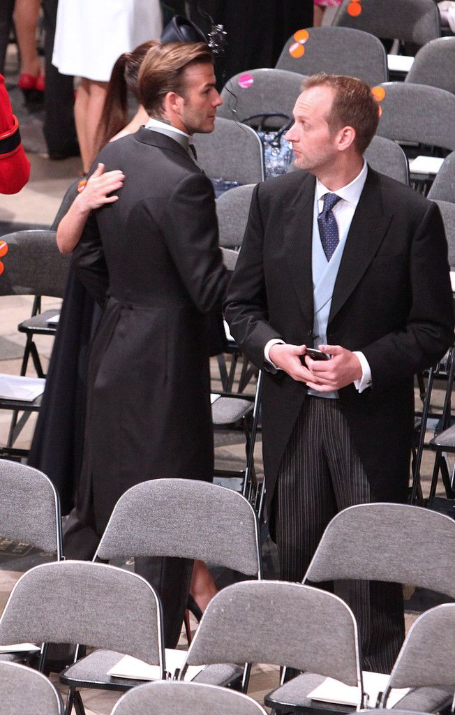 The Beckham S At Royal Wedding With Clarin Chairs Westminster Abbey