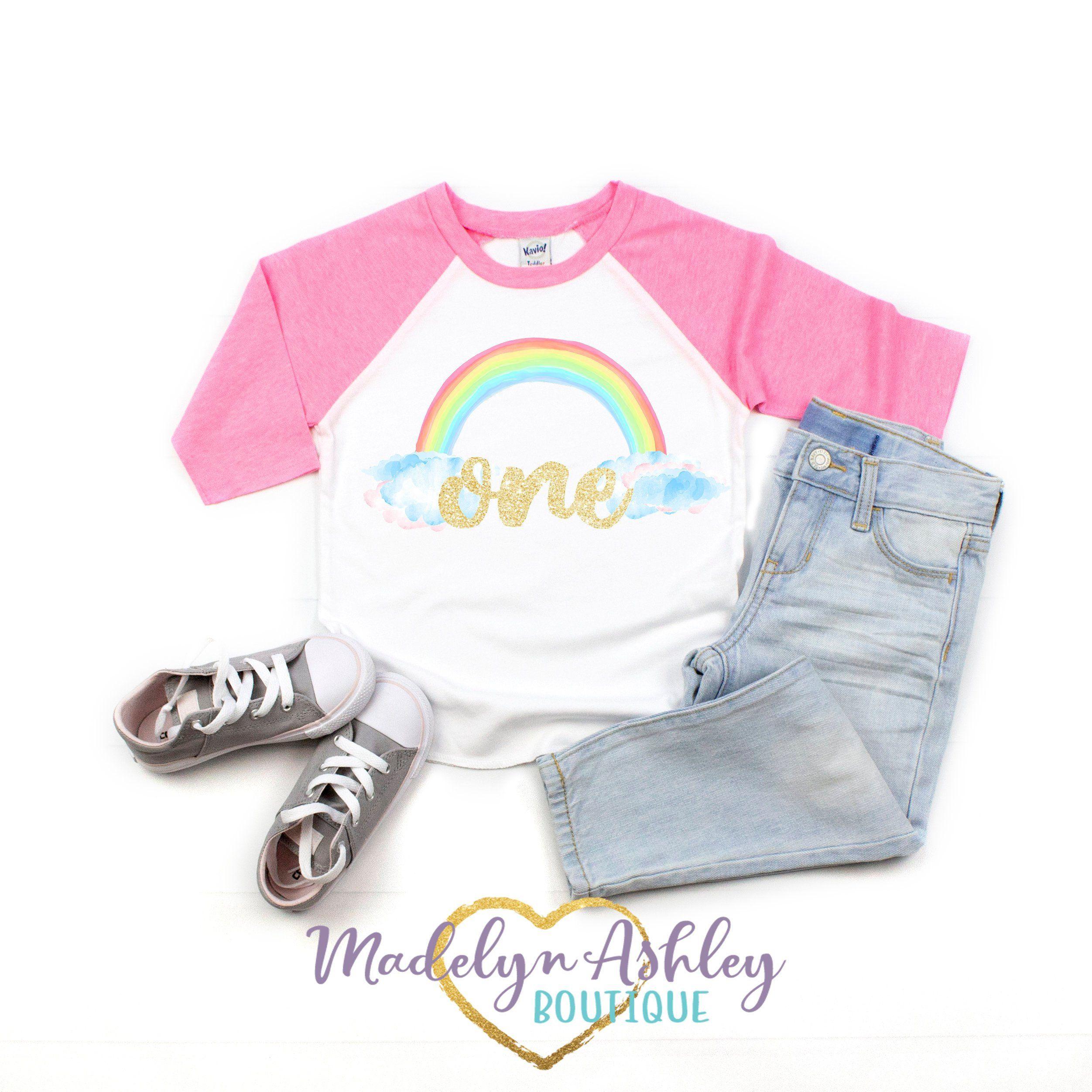 Rainbow Birthday Shirt Girls Rainbow Birthday Shirt Girls Birthday