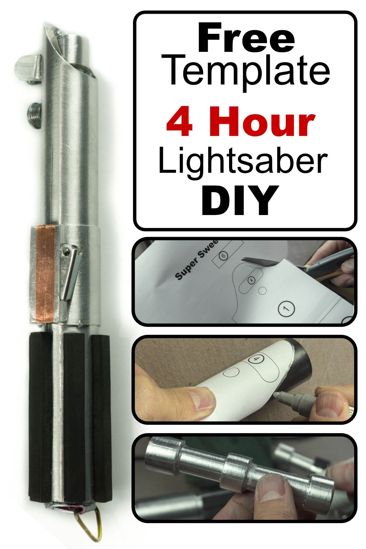 43e8c2335197 How to make a lightsaber from inexpensive materials. Luke Skywalker costume  DIY.