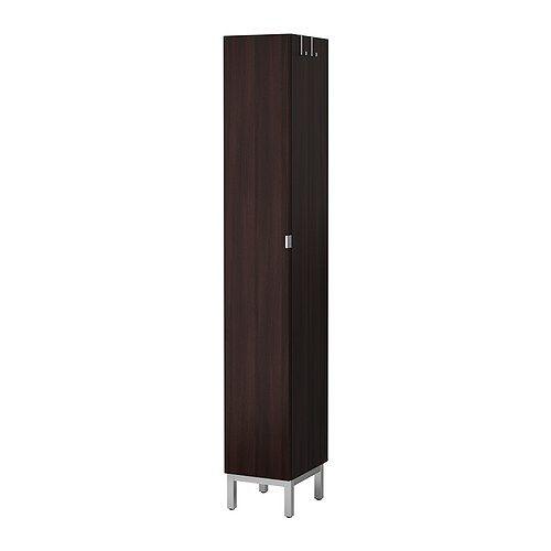 ikea lill ngen armoire haute 1 porte brun noir meuble peu profond id al si l 39 espace est. Black Bedroom Furniture Sets. Home Design Ideas