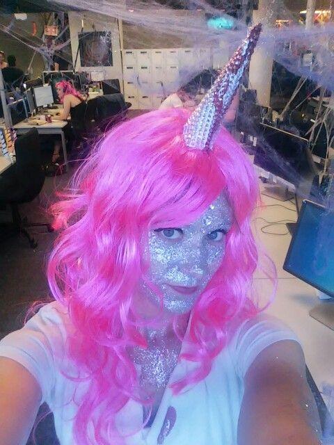 Stabby the unicorn halloween costume makeup. Liquid latex covered ...