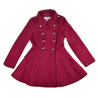Jessica Simpson Girl's Double Breasted Peplum Peacoat by Jessica ...