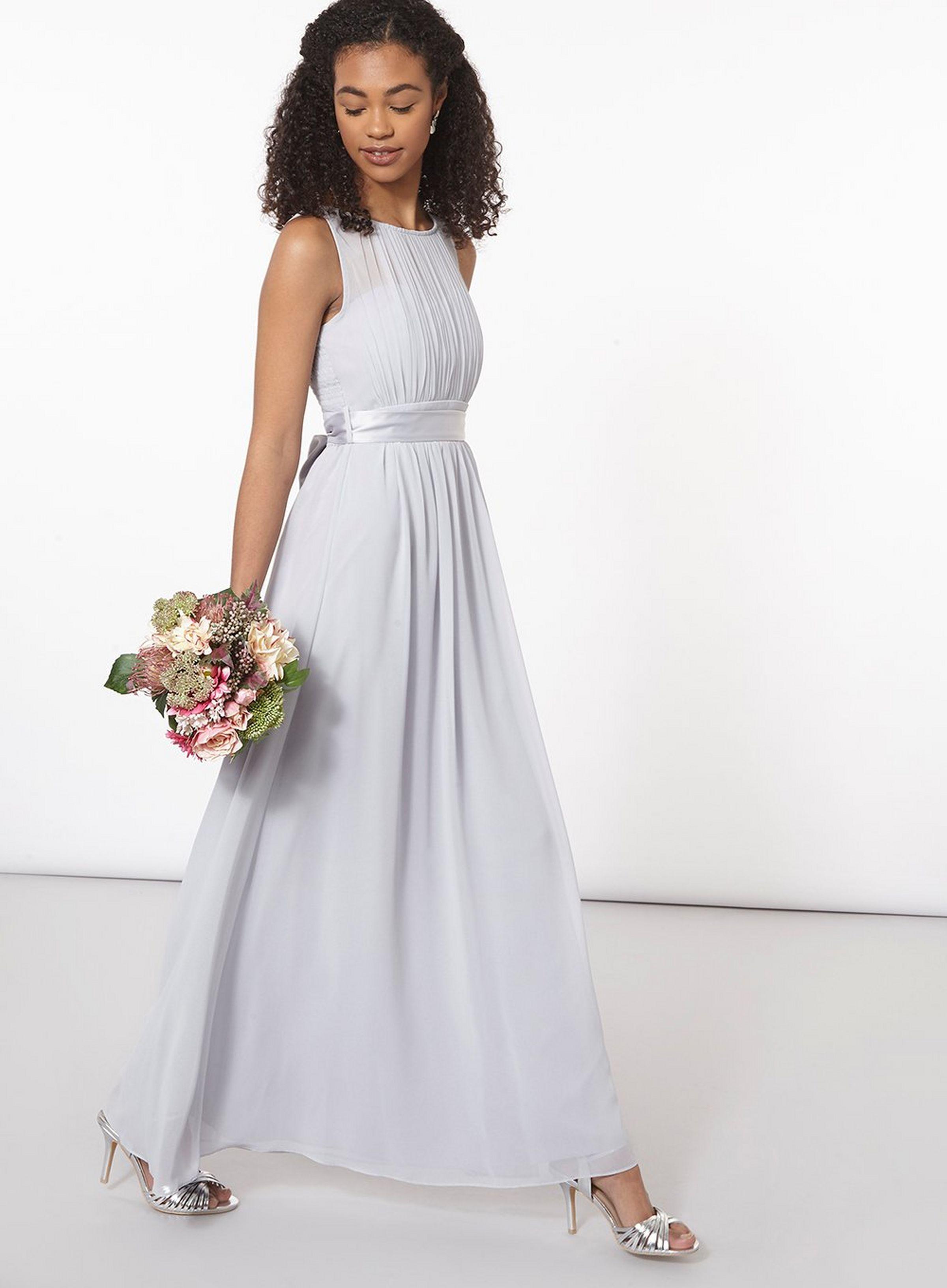 Showcase Petite Grey Natalie Bridesmaid Maxi Dress Petite Bridesmaids Dresses Grey Bridesmaid Dresses Maxi Bridesmaid Dresses