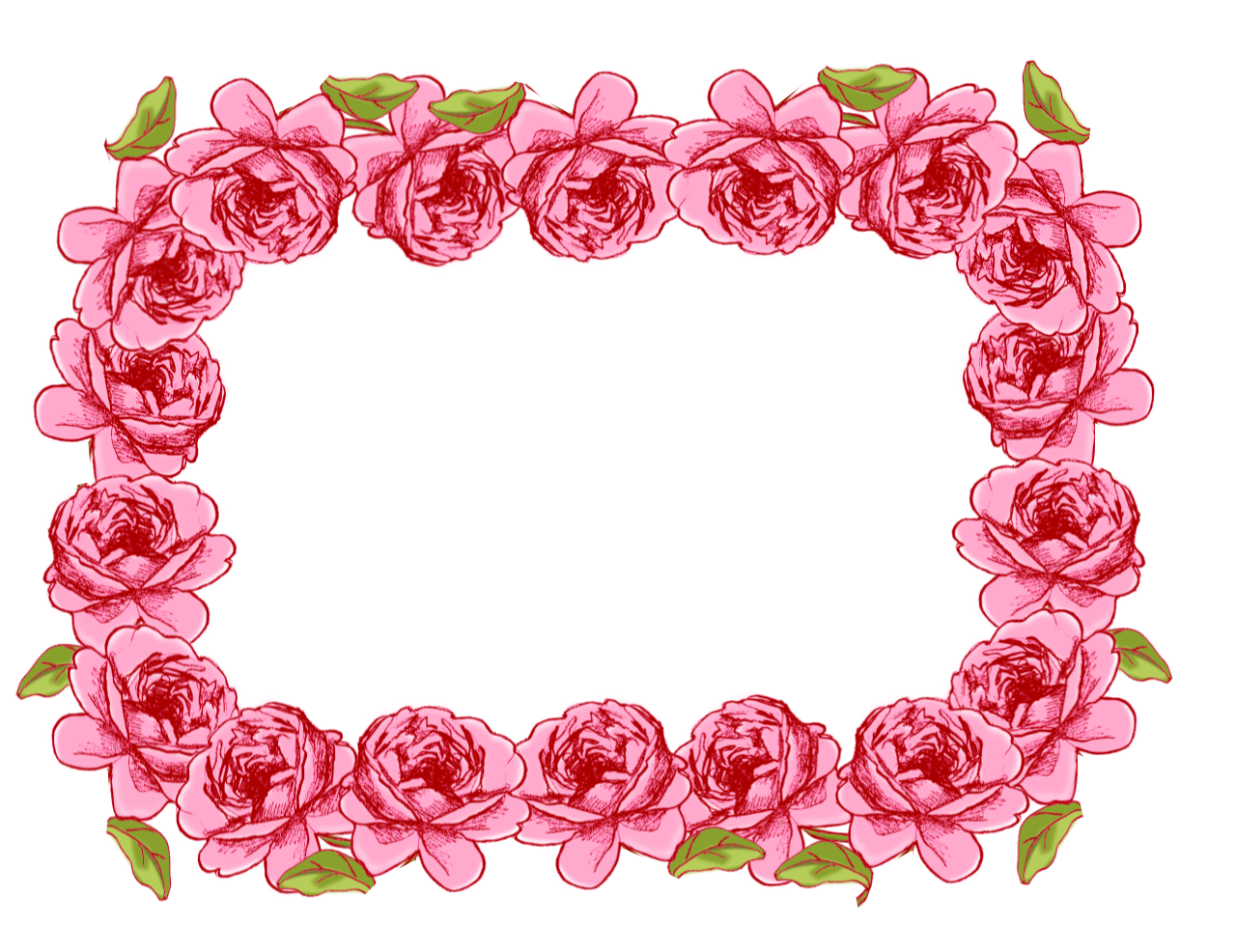 MeinLilaPark DIY Printables And Downloads Free Digital Rose Frame Borders In Vintage Style