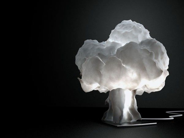Superbe Interesting Light Of Unique Table Lamp That Has Mushroom Cloud .
