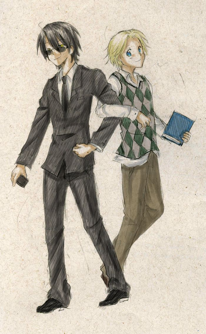 Crowley and Aziraphale by ~hinata-neko on deviantART | Good Omens in