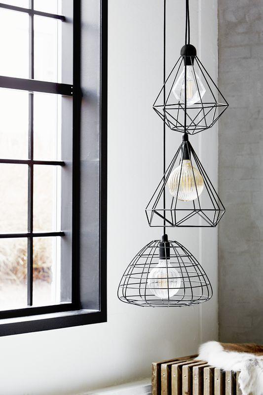 cage lighting pendants. Tees Geometric Cage Wire Pendant Light - Black Lighting Pendants