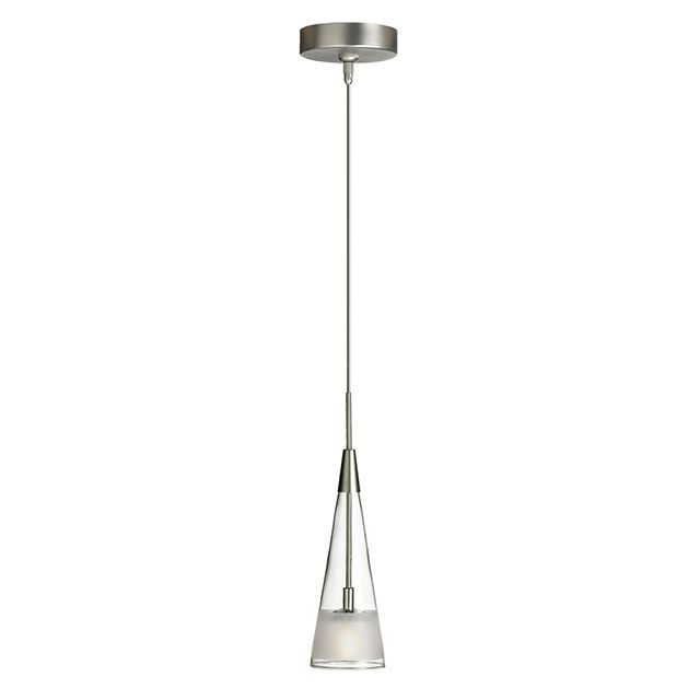 Dlsl901 Pendant Features Clear And Frosted Glass With A Satin Chrome Finish One 50 Watt 12 Volt Mr16 Type Light Satin Pendant Lighting Ceiling Pendant Lights