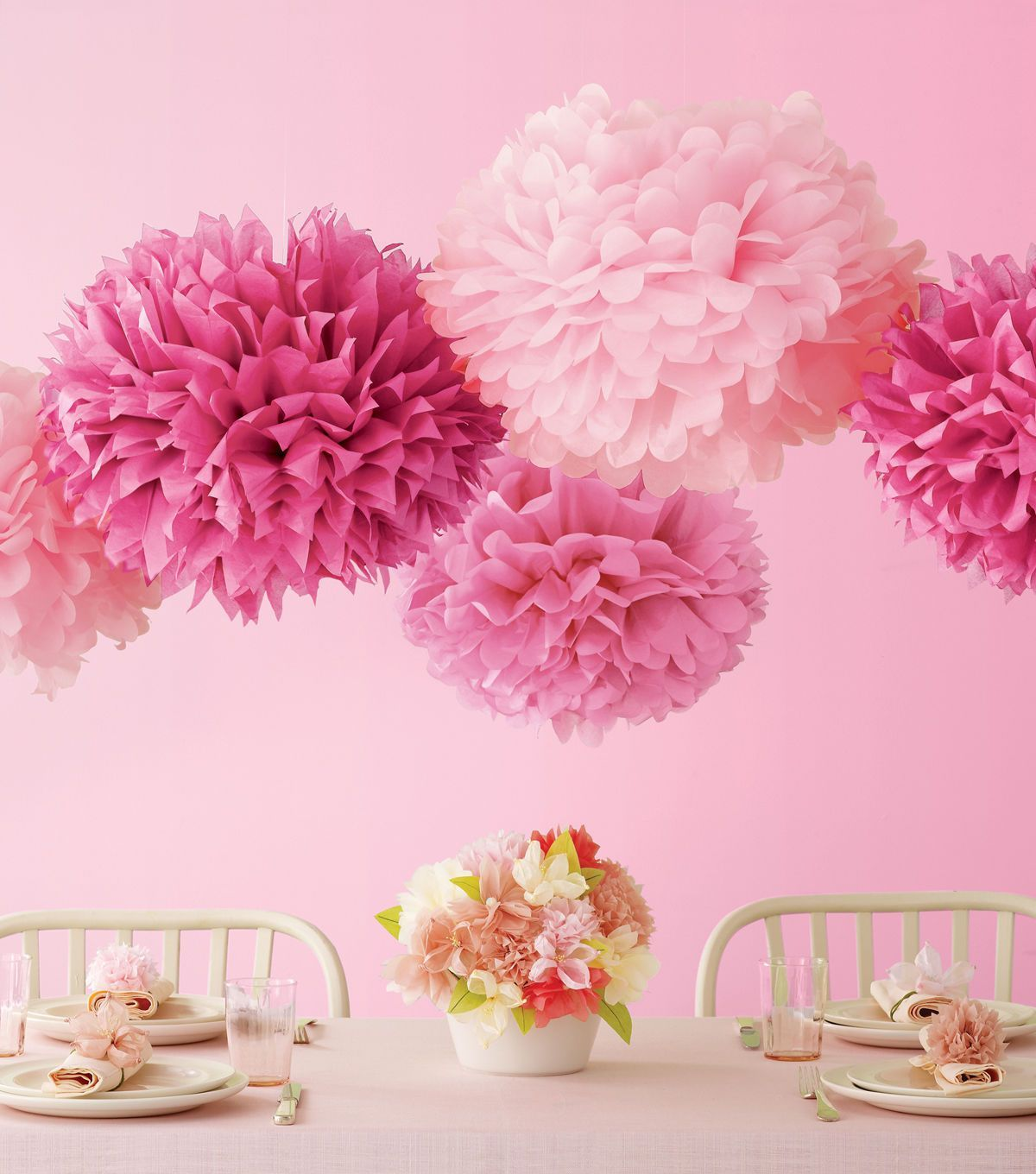 We Love This Brunch Setting With Martha Stewart Crafts Pom Poms