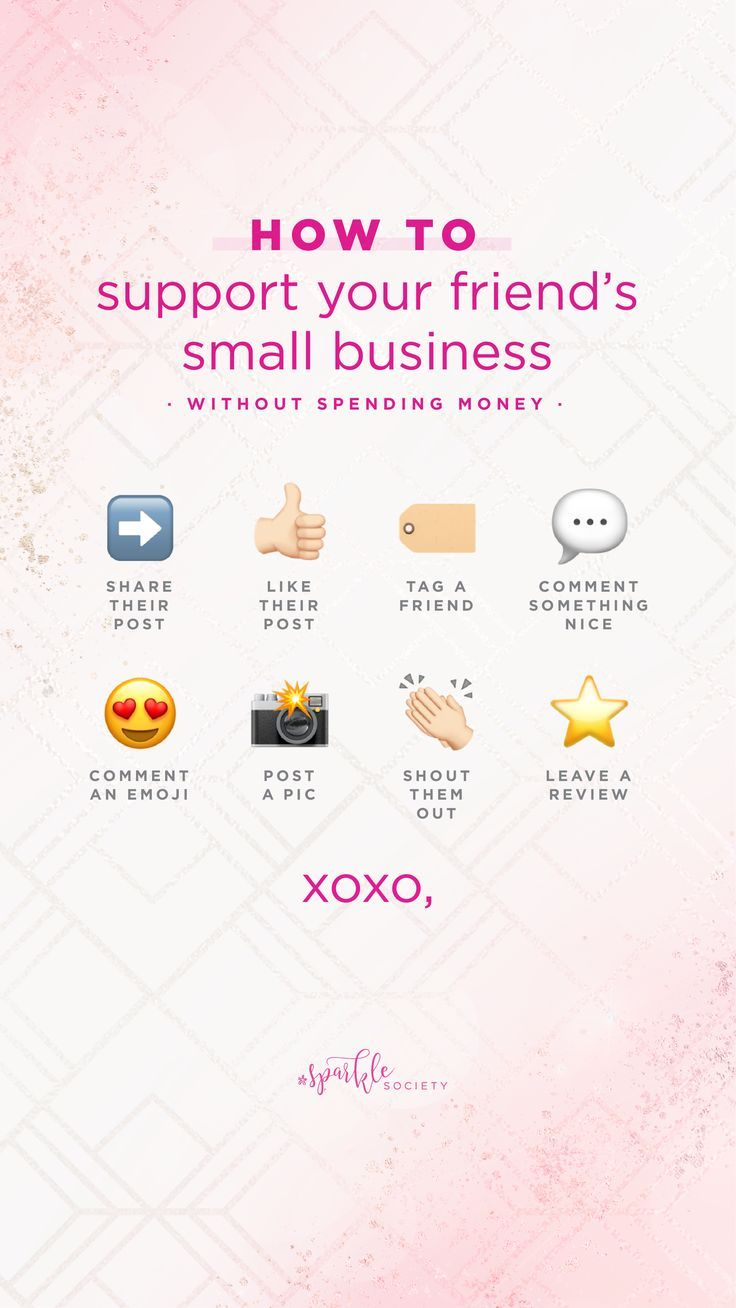 Support your friends' businesses without spending a penny