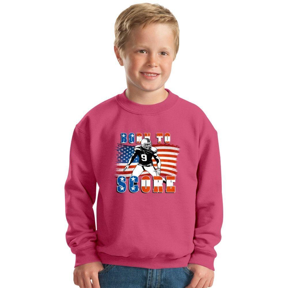 Born To Score Football Player 04 Kids Sweatshirt
