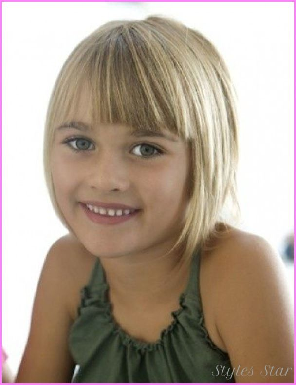 Cool Little Girls Short Haircuts With Bangs Stars Style