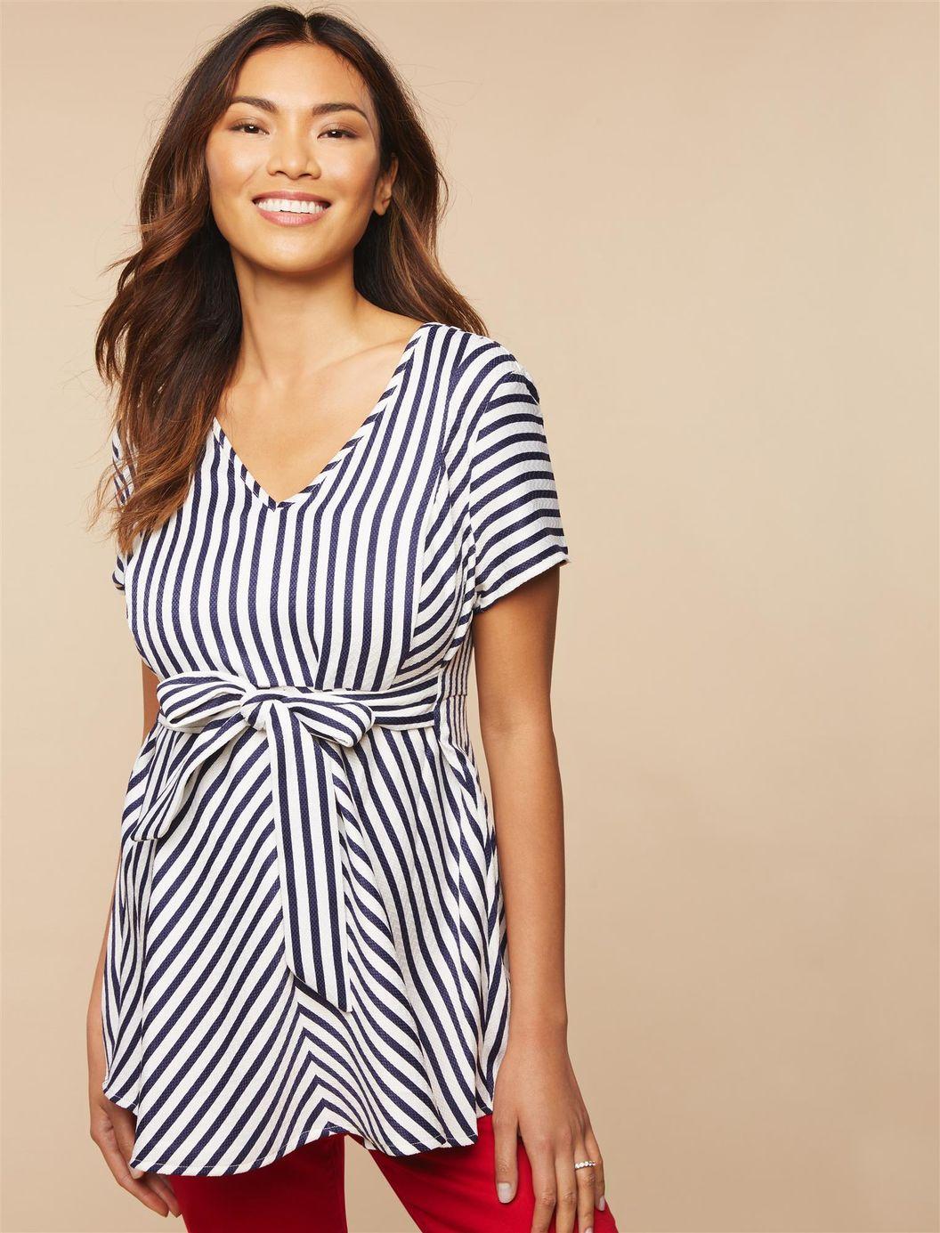 e6a6ab52f5ea5 Jessica Simpson Maternity Dress Blue And White – DACC