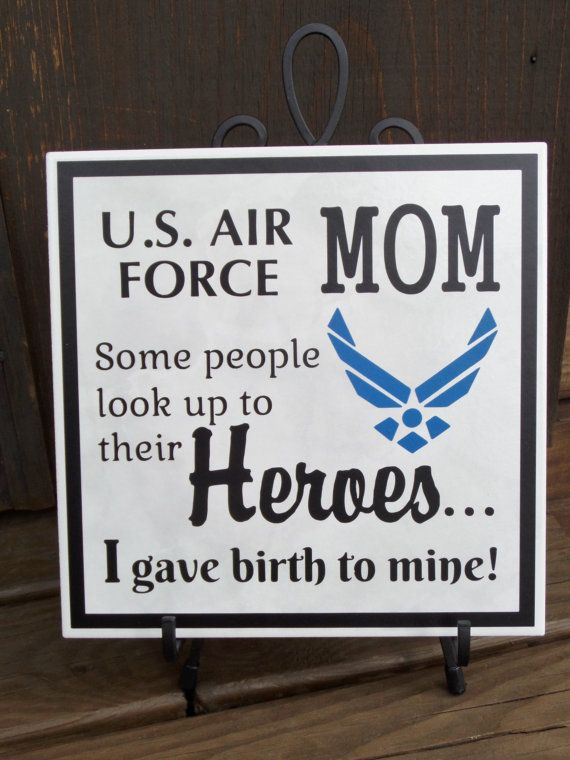 AIR FORCE Mom Pride Hero Plaque Airman Son by ThreeDamesDreamin