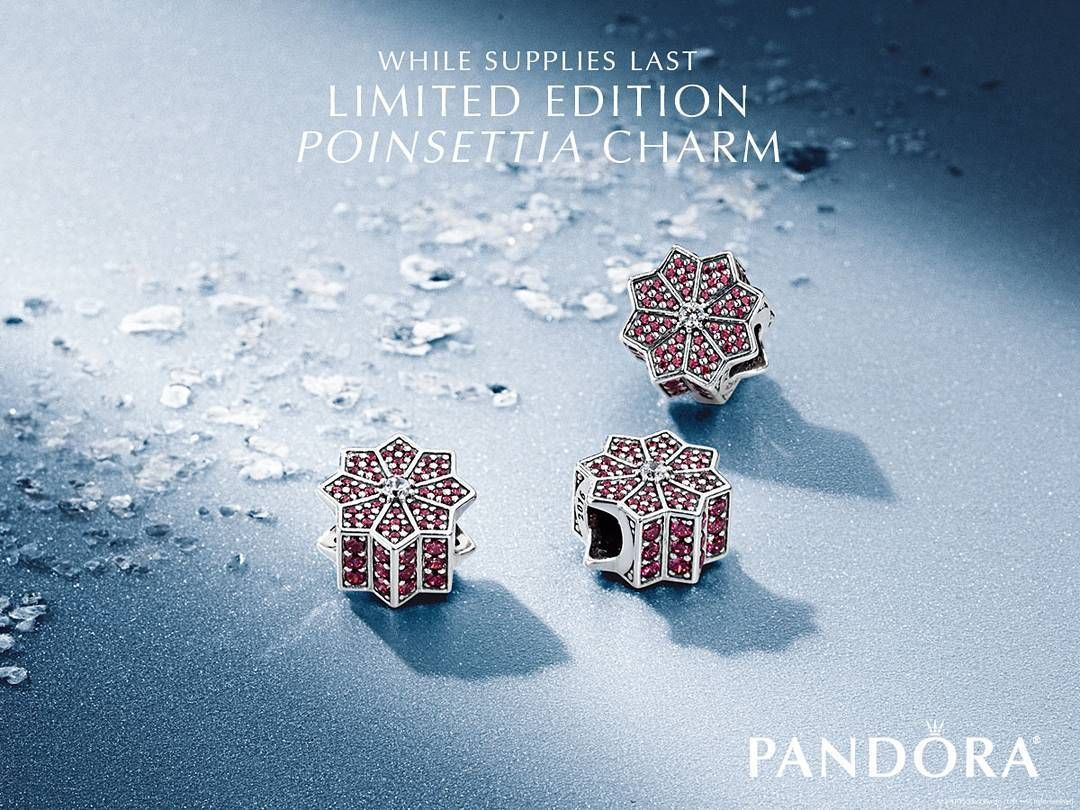 Its finally here! Purchase the Limited Edition Holiday Poinsettia charm from PANDORA Jewelry to welcome the season in style. Shop PANDORA Jewelry and make your Black Friday a unique one. Valid at participating retailers only. Void where prohibited. Not valid for prior purchases or gift cards. While supplies last.