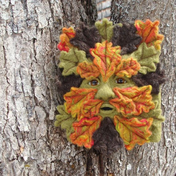Needle Felted One of a kind Autumn Gargoyle or by McBrideHouse