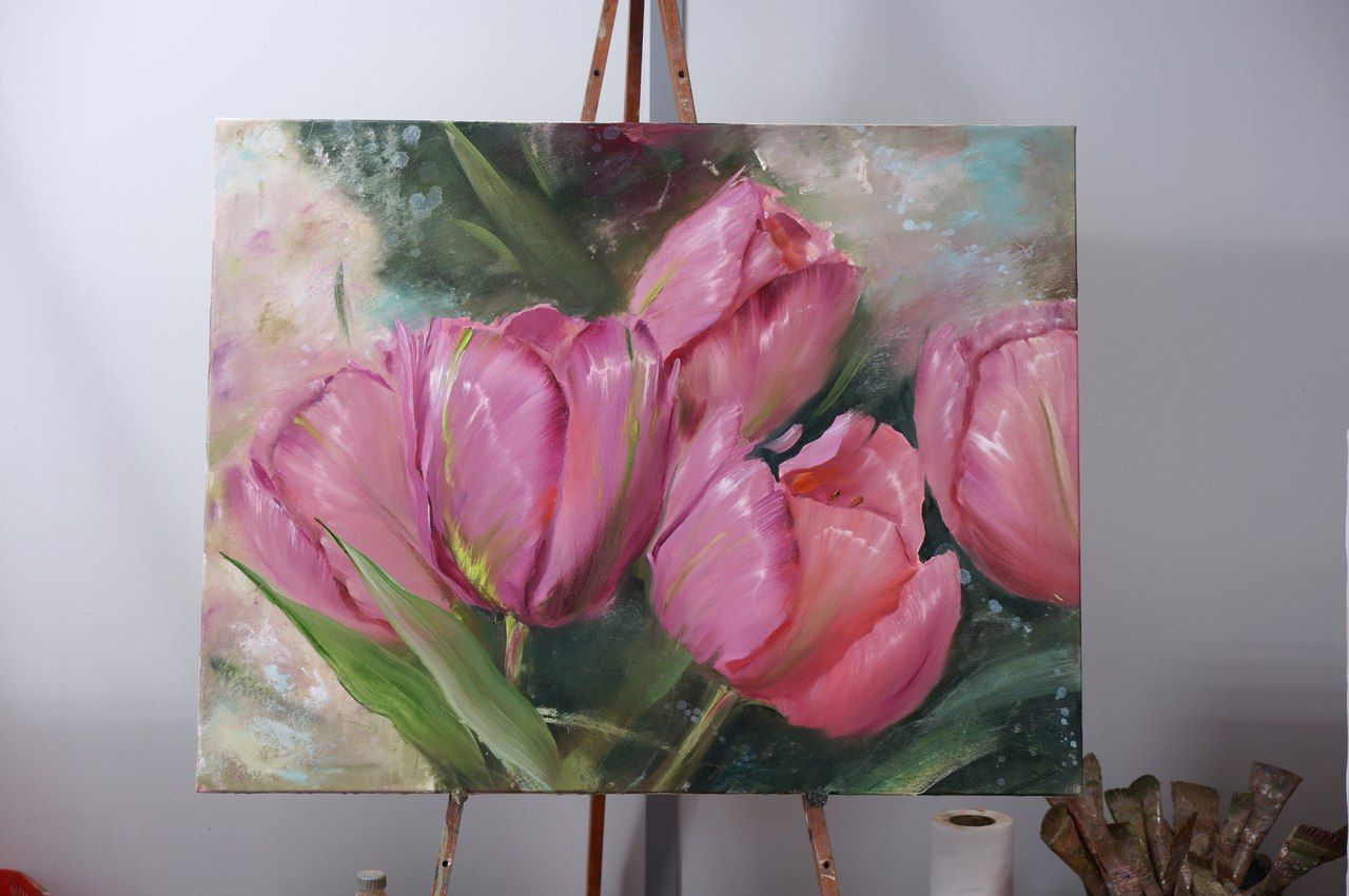 1039 photos vk pretty paintings tulips photo painting flowersart mightylinksfo