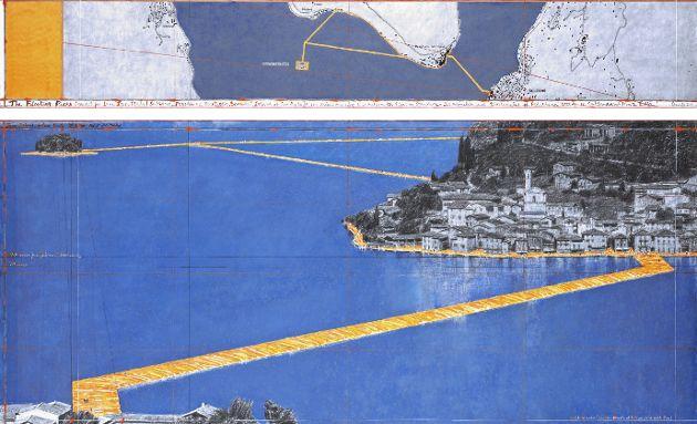Floating Piers - Künstler Christo am Iseosee