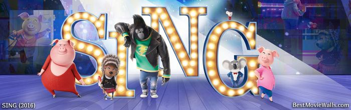 All Characters From Sing On The Big Stage In This Hd Wallpaper Sing Movie Singing Sing 2016