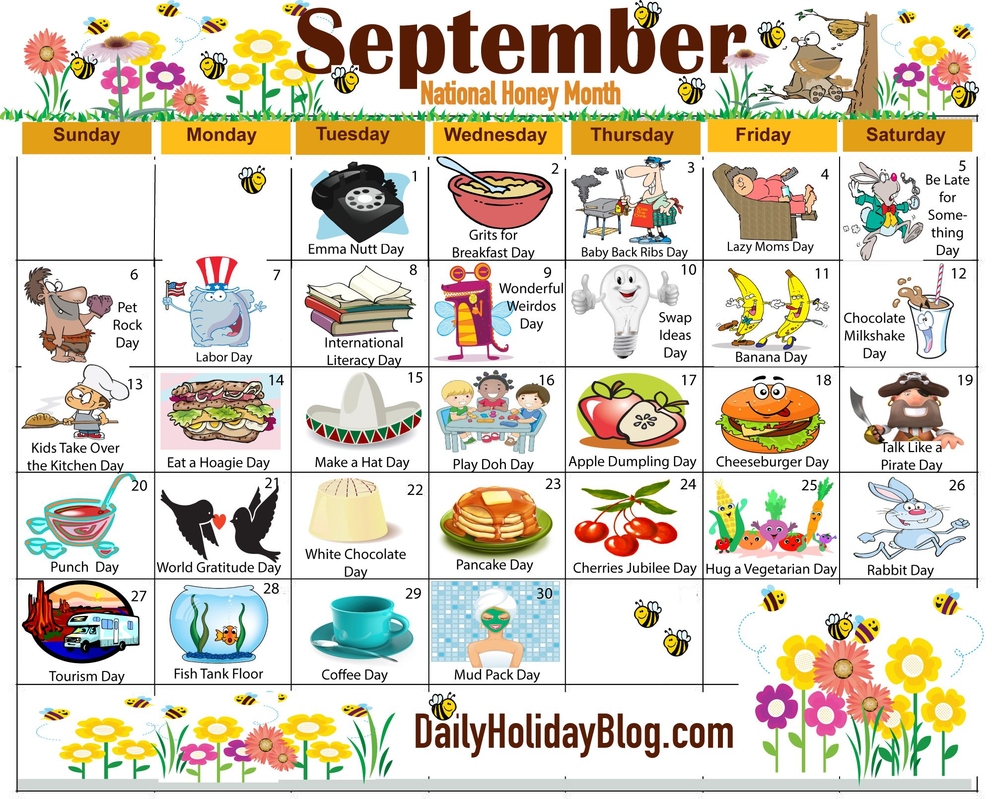 Christmas Calendar Ideas Ks : The new free september holiday calendar is available to